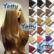Бесшовная лента в кожу утка 100% Remy человеческих волос расширений женский модный стиль
