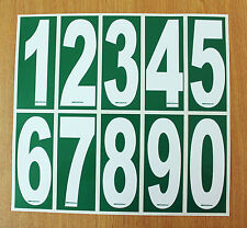 2 x White numbers on Green background - Euro-Iame-OTK-X30 Karting Race Numbers
