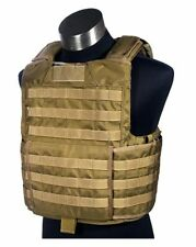 FLYYE Tactical MOLLE RBAV Releasable Body Armor Vest Carrier – Coyote Brown