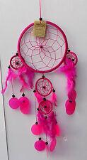 Acchiappasogni Dream Catcher tipo indiani d'america rosa cm 50x20 nativi fucsia