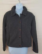 PATAGONIA SYNCHILLA Jacket Womens Fleece Gray M Medium Full Button up