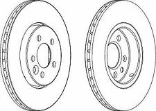 Ferodo DDF1080C Front Axle Vented Coated Brake Disc Set Replaces GBD90844