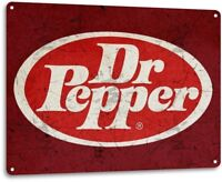 Dr Pepper Vintage Rustic Retro Tin Metal Sign