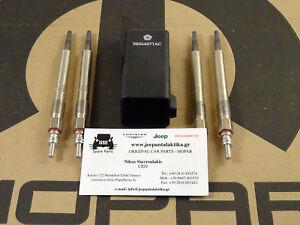 Glow Plug Kit Jeep Liberty/Cherokee 2.8CRD 2005-2007 68090434AA New OEM Mopar