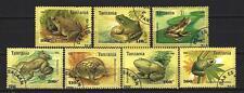 Animaux Grenouilles Tanzanie (79) série complète 7 timbres oblitérés