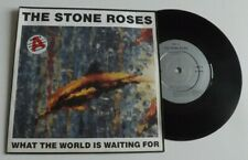 """THE STONE ROSES WHAT THE WORLD IS WAITING FOR 7"""" VINYL RECORD 1989 ORE13"""