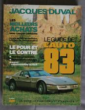 GUIDE DE l'AUTO 1983 QUEBEC - JACQUES DUVAL  - 0118