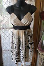 VINTAGE  Style ~ Pleated Bra Top ~  DRESS * Size 8 *  SALE !!
