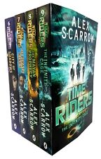 Time Riders Alex Scarrow 4 Books Set Collection City of Shadows Book