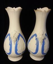 Antique Bennington Pottery Parian Porcelain Vases (1847-1858)