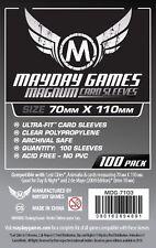 100 Buste Protettive Giochi da Tavolo / Boardgame Sleeves 70x110 mm MayDay