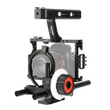 Camera Cage Video 15mm Rod Rig Matte Box Handle Grip for Panasonic GH5 GH4 E8X6