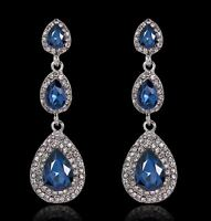 Crystal Drop Earrings Diamante Bridal Rhinestone Dangle Wedding Chandelier