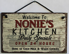 Nonie s Sign Kitchen Grandma Diner House Mom Bake Cook Cookie Grand Parent Home