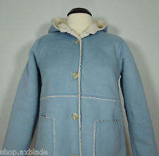 CHEROKEE Blue Trench Coat with Acrylic Sheep Lining Juniors size XL