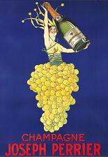 Art Ad Champagne Joseph Perrier Drink  Deco Poster Print