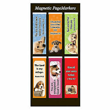 Magnetic Bookmark Pagemarker Puppies Gods Own Set of 6 365977