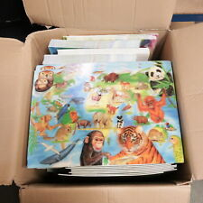 JOB LOT 170 x  Kids Toys Play Mats ANIMALS WILDLIFE Education 33x47cm NEW -250