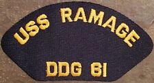 US Navy Cap Patch USS Ramage DDG-61