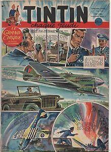 TINTIN n°184. 1er mai 1952. Bel état