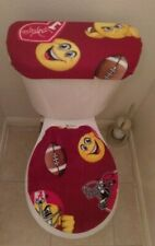 Alabama Emoji Fleece Fabric Toilet Seat Cover Set Bathroom Accessories