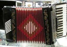 Yingjie 43 Key Accordion with Hard Case~Black and Red~Works Great!