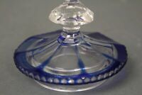 Glas Deckel blau Ersatz 73 mm Dose Deckeldose geschliffen Bonboniere Schale