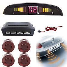 Reversing Parking Sensor Car LED 4 Sensors Audio Buzzer Alarm Brown Canbus  Kit
