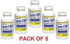 5 X Ivory Caps Skin Whitening Lightening Max Support 1500 mg Pills - 60 Capsule