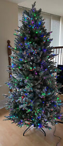 7ft Santas Best Deluxe Snow Kissed Pre-lit LED Christmas  Tree