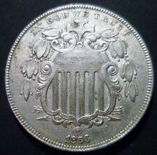UNC 1866 RAYS Shield Nickel very high grade choice PQ++ & 1867 RAYS Combo 2 coin