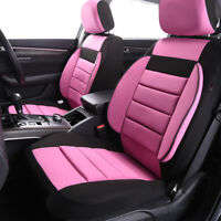 Universal 2 Front Car Seat Covers For Girls Women Black Pink Soft Sofa for VAN