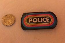 "Vintage "" Police "" Klos 95.5 Radio Rainbow Button Pinback Pin ~ Free Shipping"
