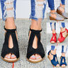 Womens Ankle Strap Wedge Heel Sandals Ladies Peep Toe Buckle Sandals Shoes Size