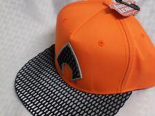 DC Comics Justice League Aquaman Perforated Orange and Black Snapback Hat Cap