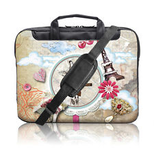 "TaylorHe 15.6"" 15"" Laptop Shoulder Bag Carry Case Handle Strap Pinboard Giraffe"