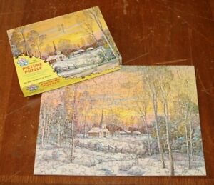 """TUCO Interlocking Picture Puzzle """"Old Meeting House in Winter"""" 950A Complete"""