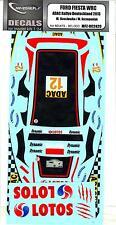 MF Zone Decals 1/24 FORD FIESTA WRC ADAC Rally Deutchland 2013