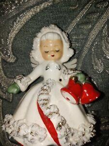 Vintage 1960 HOLT HOWARD Christmas ANGEL Candle Holder