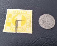 Bayern Kombi Marke 1 Kreuzer gelb (8I) und 1 Kreuzer Münze 1868