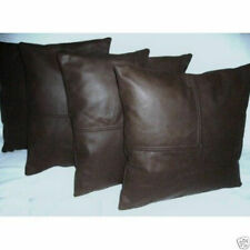 Cushion Cover Leather Pillow Genuine Soft Lambskin Decor Throw Home Case Covers