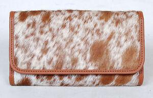 100% Real Cowhide Wallet Real Leather Hair ON Western Ladies Wallets  SA-3029