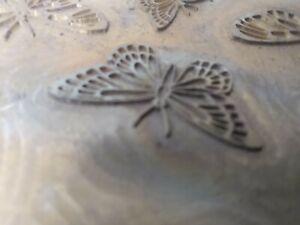 Vintage Brass Printing Plate Butterflies Crafts Art enamelling