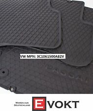 VW Volkswagen Passat CC LHD Rubber Black Floor Mats Set 3C1061500A82V Genuine