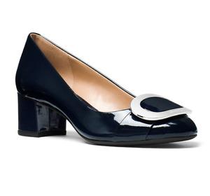 MICHAEL Michael Kors Pauline Ladies Patent Leather Mid Pumps Admiral Size 10 M