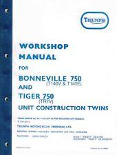 99-0983 Triumph Bonneville Taller Manual TR7V T140V T140E 750 Reino Unido EE. UU. 1973-79