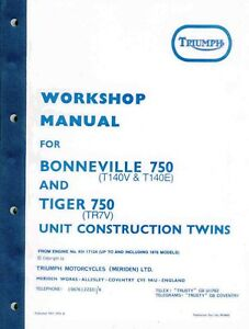 Triumph Bonneville Motorcycle Service Repair Manuals For Sale Ebay