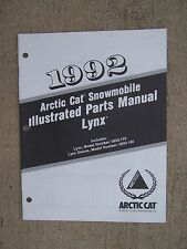1992 Arctic Cat Lynx + Lynx Deluxe Snowmobile Illustrated Parts Manual Snow  U