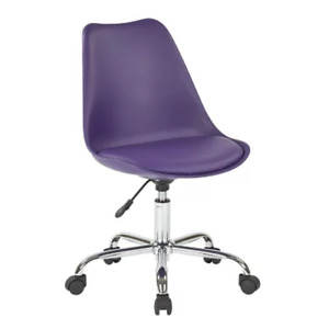 OSP Home Furnishings Emerson Office Chair with Pneumatic Chrome Base, Various Co