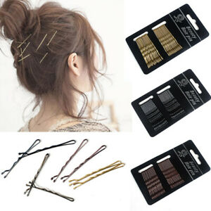 24pcs New/1 Set Hairpin Hair Pin Clip Stainless Steel 4 Colors Classics Plated